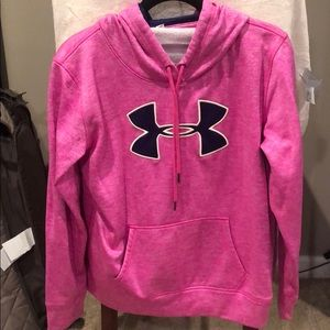 Bright pink Under Armour hoodie